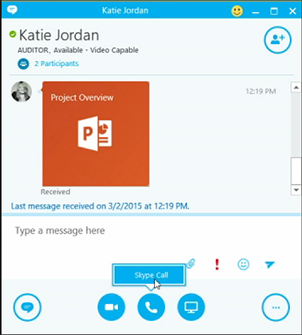 skype for business attachments