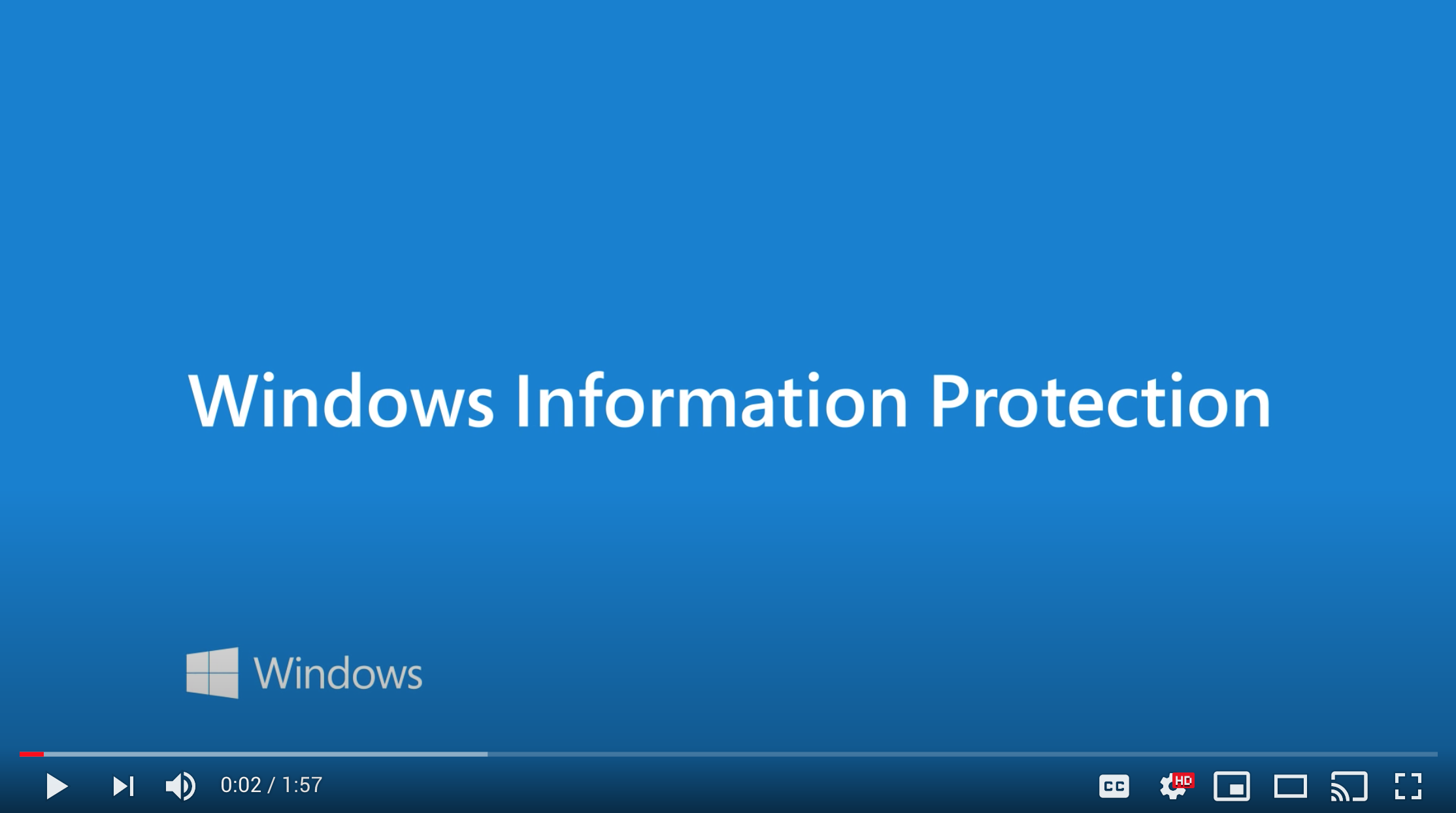video Windows Information Protection WIP