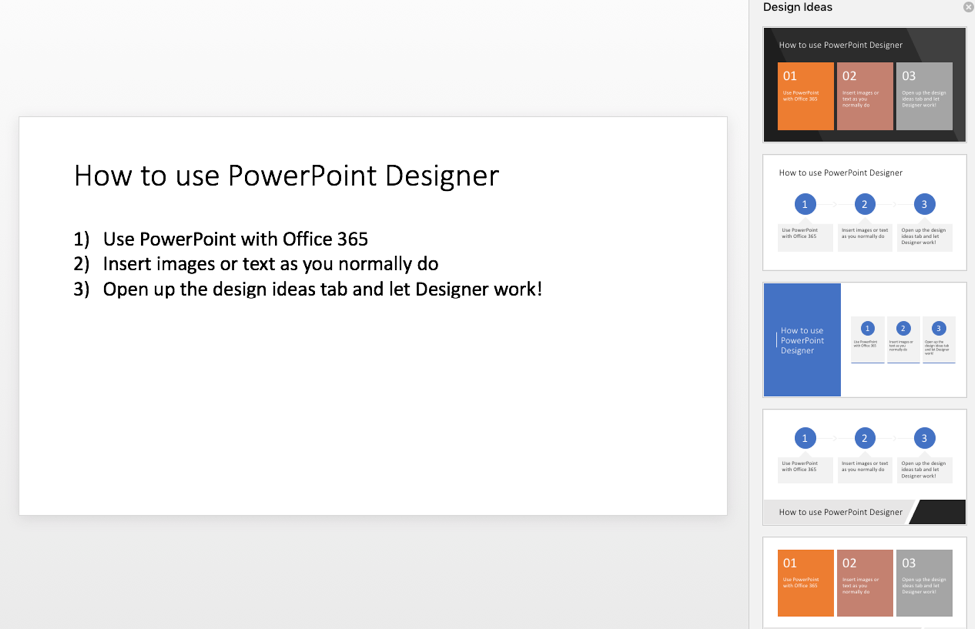 PowerPoint Designer dynamic lists