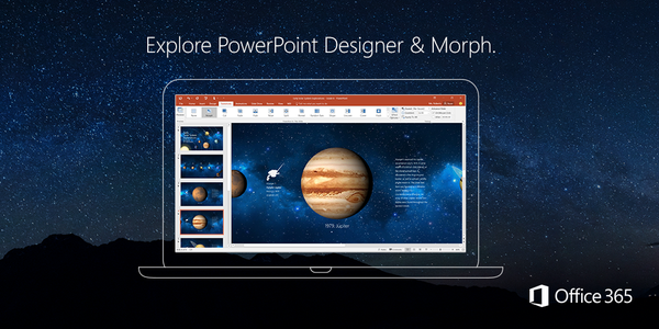 Office 365 PowerPoint Designer and Morph