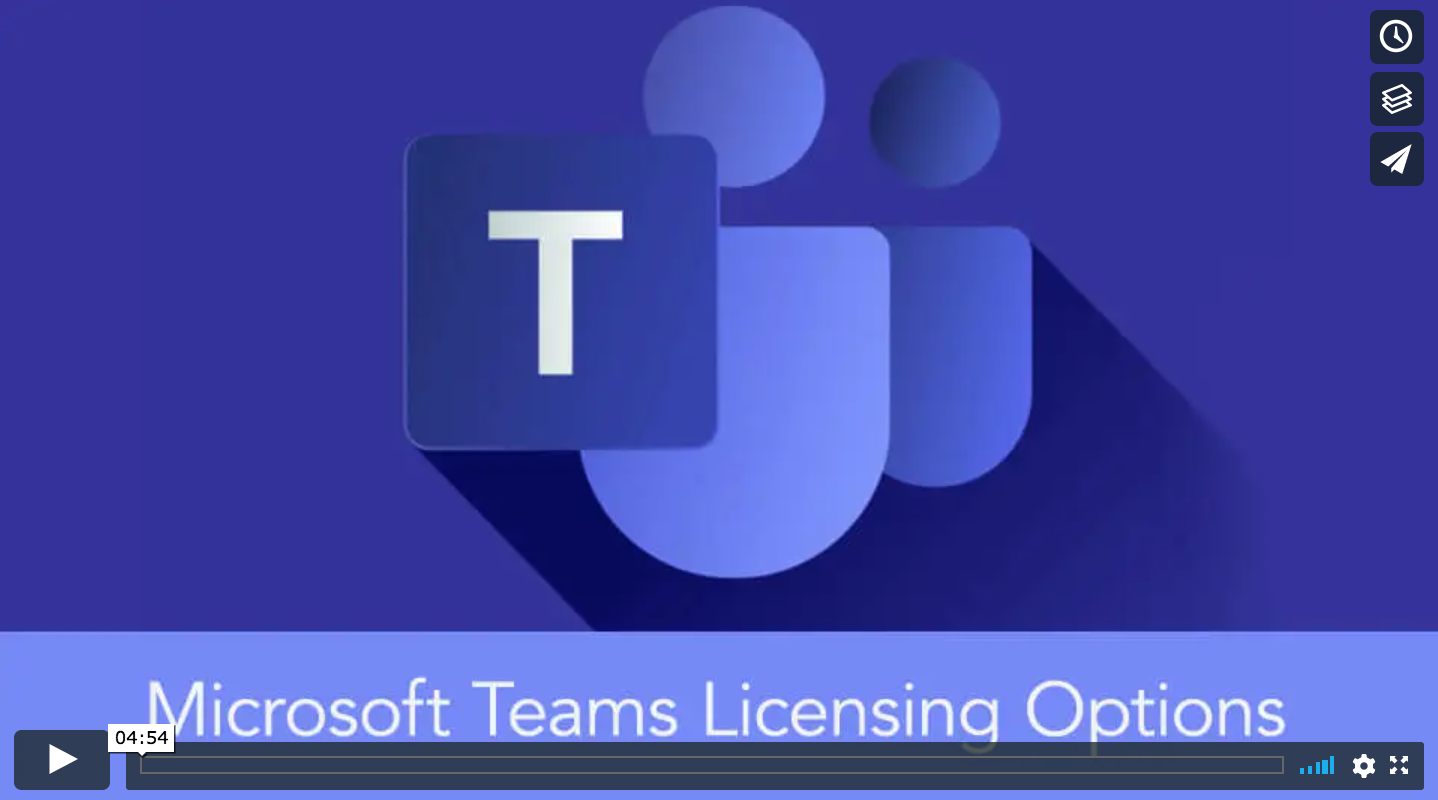 play microsoft teams licensing options