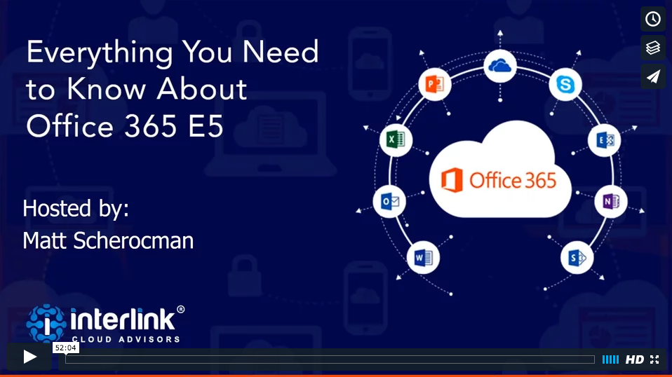 view office 365 e5 webinar